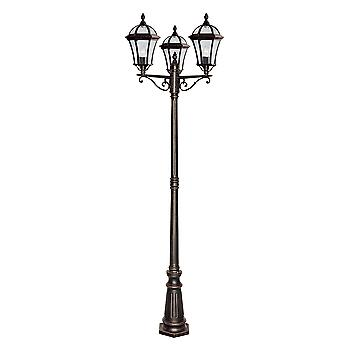 Searchlight 1569-3 Capri Rustic Brown Outdoor Lamp Post