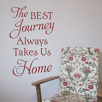 Journey Home Wall Sticker Quote
