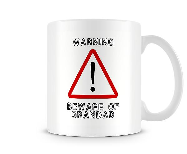 Warning Beware of Grandad Mug