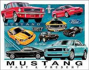 Ford Mustang Past & Present metal wall sign