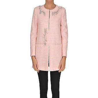 Capa de algodón rosa de Moschino