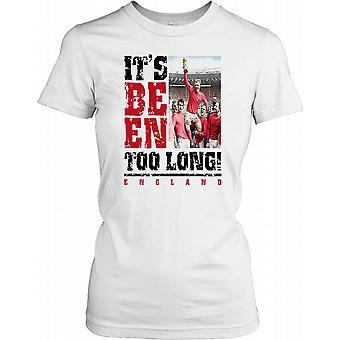 Its Been Too Long - England 1966 Ladies T Shirt
