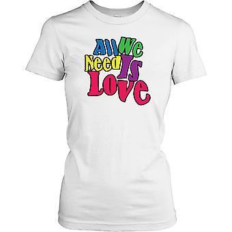 Alles was wir brauchen ist Liebe - lustiges Zitat Damen T Shirt