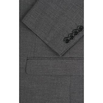 Dobell Grey Sharkskin Suit Jacket