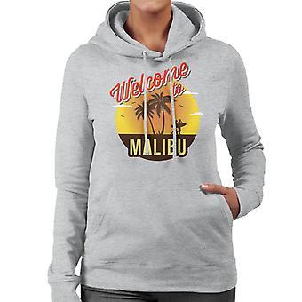Velkommen til Malibu Retro kvinner er hette Sweatshirt