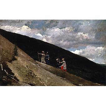 In the Mountains, Winslow Homer, 60x38cm