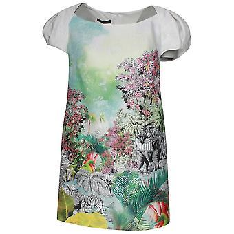 Arggido avkortet ermet Safari print kort kjole