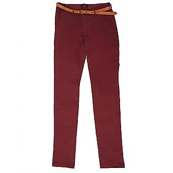 Scotch & Soda Slim Fit Chino Trousers,Berry
