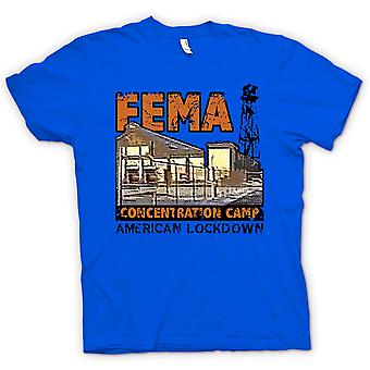 Mens T-shirt - FEMA Concentration Camp Police State - Conspiracy