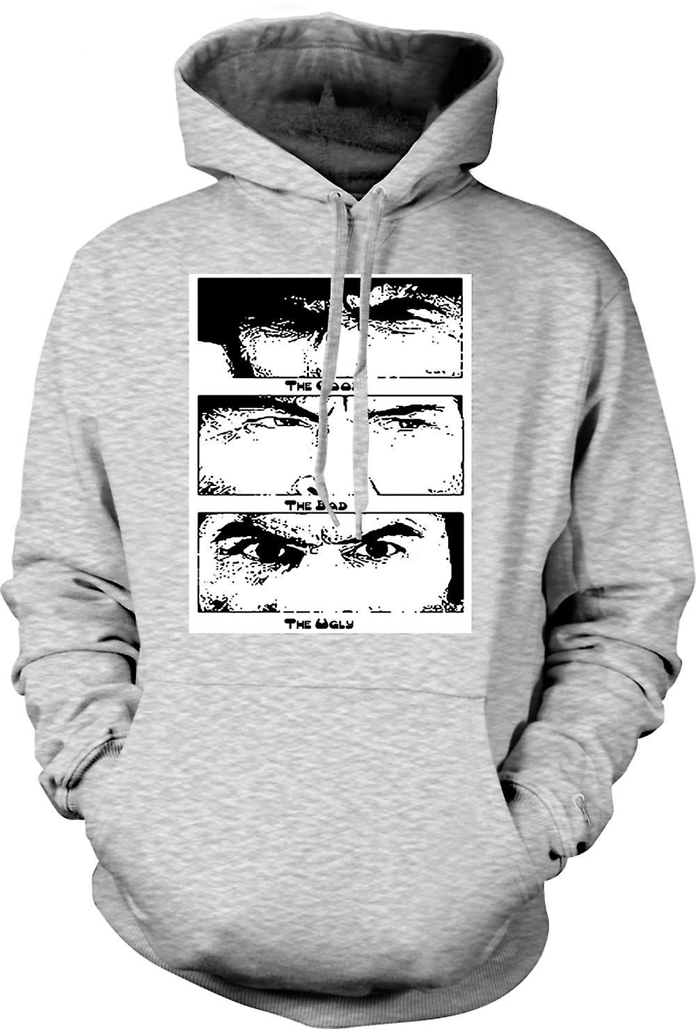 Mens Hoodie - Good Bad and the Ugly - BW