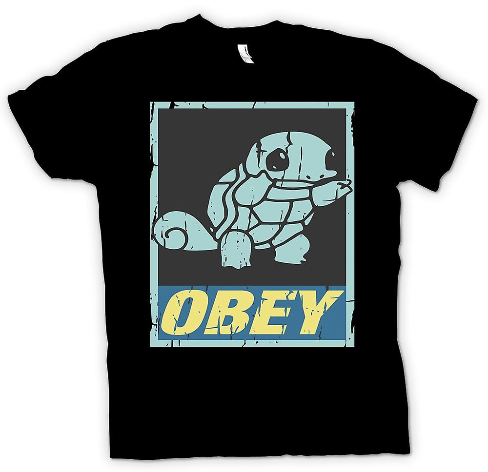 Womens T-shirt - Squirtle Obey - Cool Pokemon Inspired