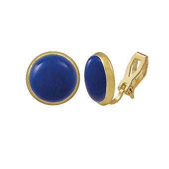 Eeuwige collectie Symphony Lapis Blue howliet Gouden Stud Clip op oorbellen