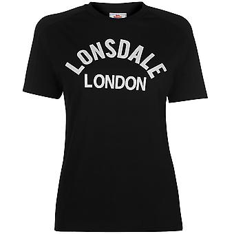 Lonsdale Womens Long Line Crew T-Shirt T-Shirt T-Shirt Top Ladies