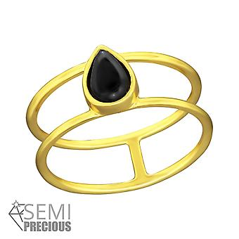 Double Line - 925 Sterling Silver Jewelled Rings - W36393X