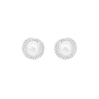 Swarovski Earrings Originally - white - rhodio plating