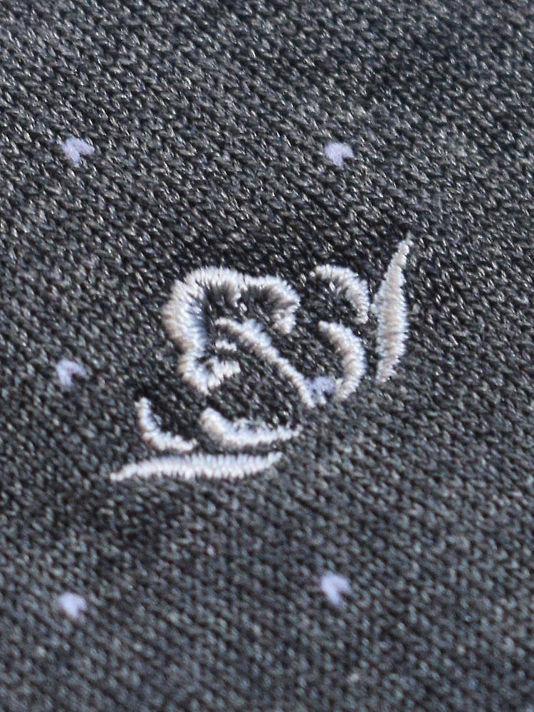 Pindot cotton blend socks – dark grey