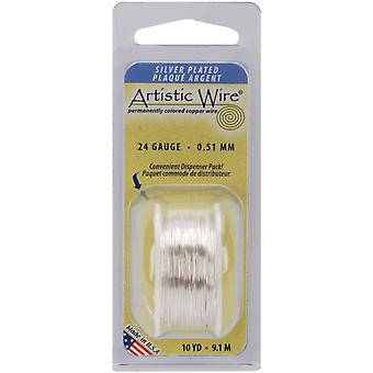 Colored Wire 24 Gauge 10 Yards Pkg Natural Non Tarnish Silver 24Awg Nts