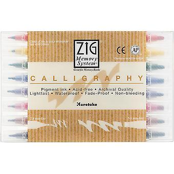Zig Memory System Calligraphy Markers 8 Pkg Ms34008v