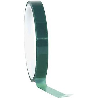 Tape TOOLCRAFT Green (L x W) 66 m x 12 mm Silicon