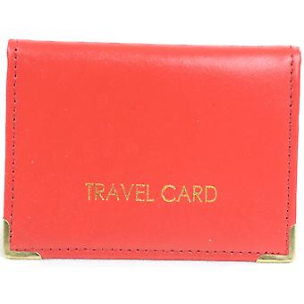 Ladies / Womens / Mens Leather Travel Card / ID / Credit Card Holder / Case - Black