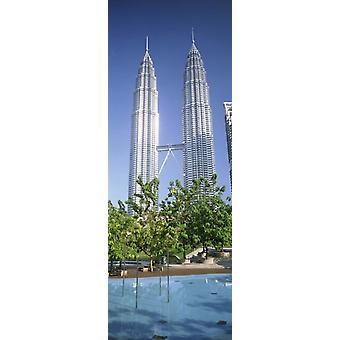 Malaysia Kuala Lumpur Blick auf Petronas Twin Towers-Plakat-Druck
