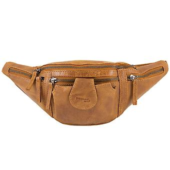 Green land light nature Buffalo leather Fanny Pack 1335-24