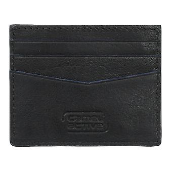 Camel active mens credit card case, card case leather pouch black 4238