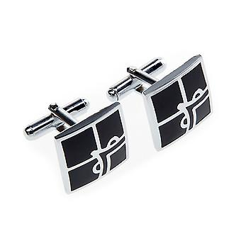 Marcell Sanders mens cuff links square black