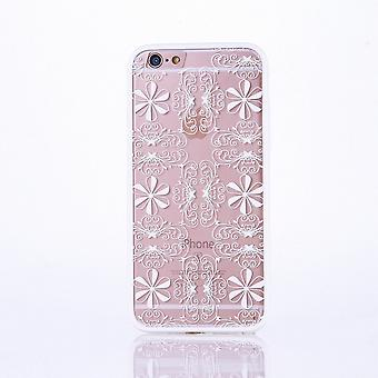 Mobile case mandala for Apple iPhone 6 / 6s design case cover motif ornament cover bag bumper white