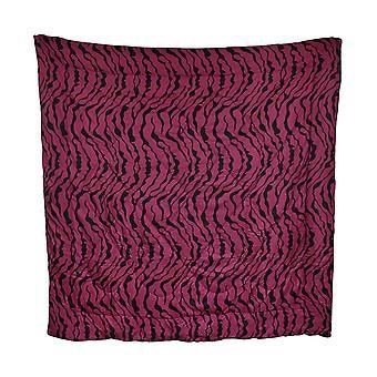 ホットのピンクと黒のゼブラ ストライプ掛け布団フル/クイーン