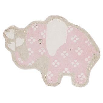 Girls Baby Pink Elephant Bedroom Mat