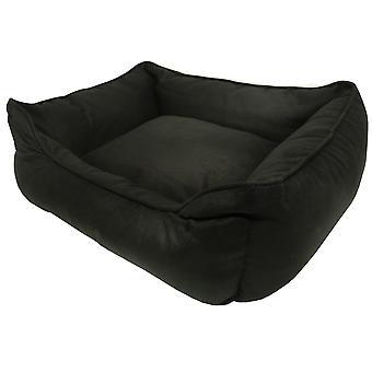Hund gået Smart ruskind liggestol seng sort 81x71cm