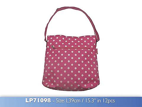 Dotty Vintage Cross Body Bag Pink made from Oilcloth