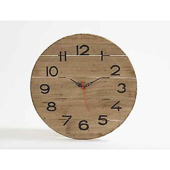 Elegant 35cm Wooden Driftwood Wall Clock For Home Kitchen Living Dining Bedroom