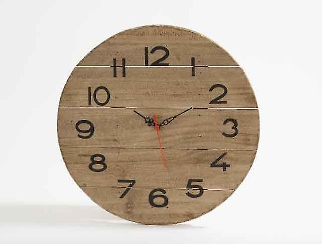 De Mur Coucher Maison Pour Horloge Manger Bois À Chambre Élégant Flotté Cuisine Salle En 35cm La jL54AR