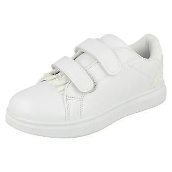 Girls Spot On Double Velcro Strap Trainers H2418