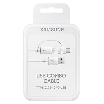 Samsung combo cable data cable micro-USB USB A incl. USB type C adapter white