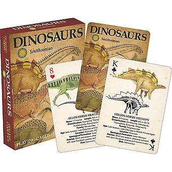 Dinosaurussen (Smithsonian Museum) set van 52 speelkaarten (+ jokers) nm