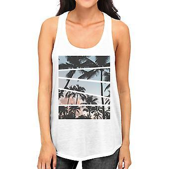 Palma árvores Califórnia fotografia do sol mulheres tanques gráfico algodão