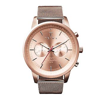 Triwa unisex watch Chrono NEST105 ME021414 rose Nevil Mesh Bracelet Watch