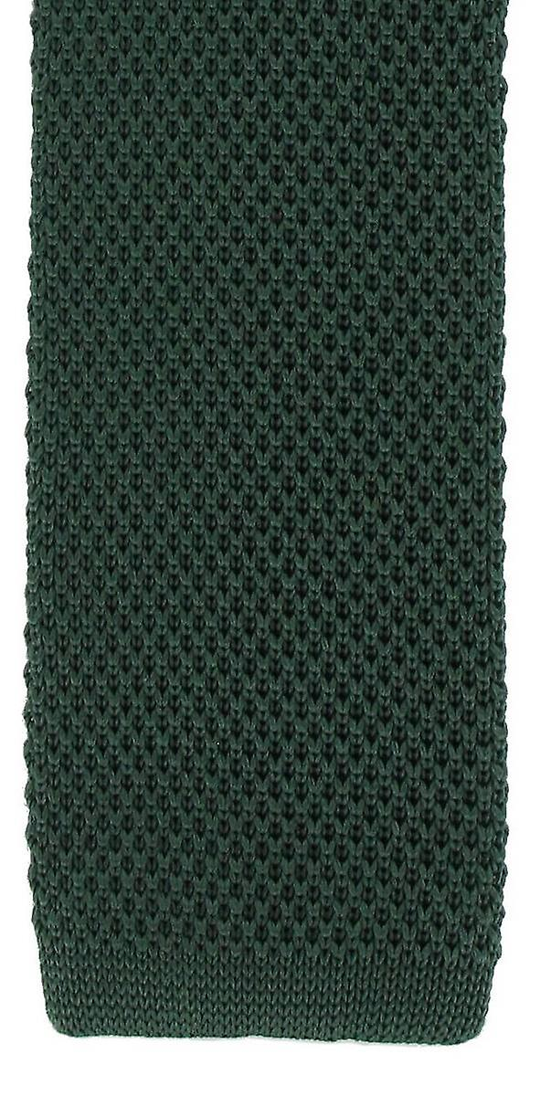Michelsons of London Silk Knitted Skinny Tie - Green