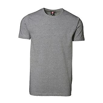 ID Mens Short Sleeve Fitted Slimline Stretch T-Shirt
