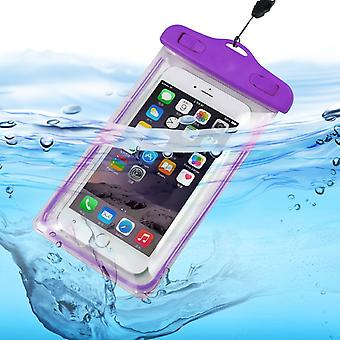 ONX3 (Purple) Universal Transparent Mobile Phone , Passport, Money Underwater Waterproof Swimming Pool, Ocean Protection Bag Touch Responsive For  Xiaomi Mi Max 3