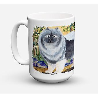 Keeshond Dishwasher Safe Microwavable Ceramic Coffee Mug 15 ounce