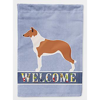 Carolines Treasures  BB8342CHF Smooth Collie Welcome Flag Canvas House Size
