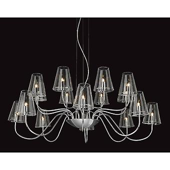Firstlight Traditional Chrome 16 Shade Clear Glass Wall Light
