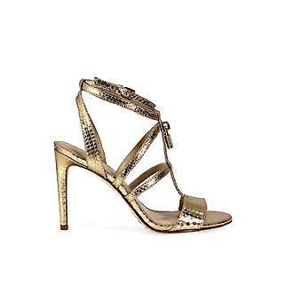 MICHAEL KORS ANTONIETTE PALE GOLD SANDALS