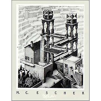 Waterfall Poster Poster Print by MC Escher