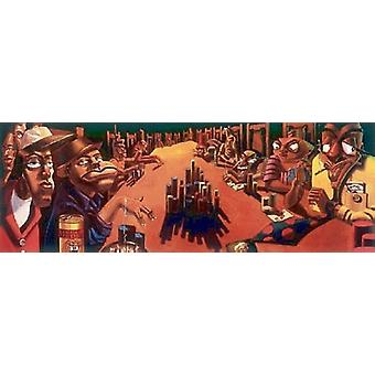The Poker Game Poster Print by Justin Bua (36 x 13)