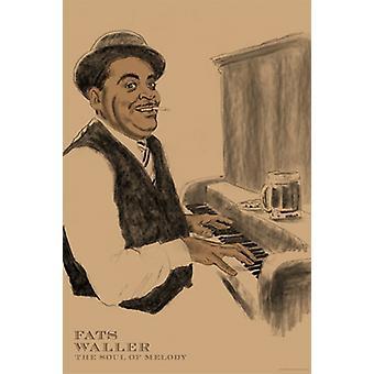 Fats Waller Poster Print von Clifford Faust (12 x 18)